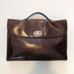 BROOKS BROTHERS Leather Briefcase Folio Laptop Bag